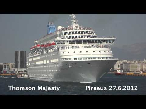 THOMSON MAJESTY departure from Piraeus Port
