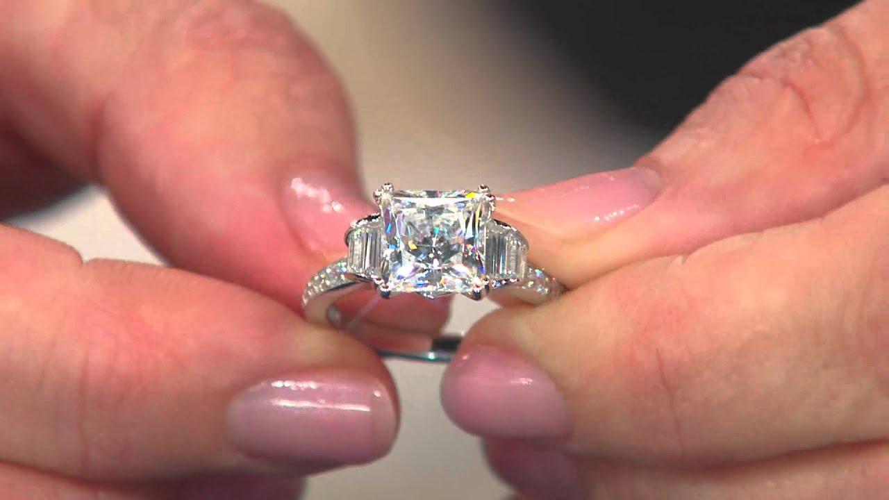 Diamonique Engagement Rings