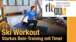 Bein -Training & Ski - Workout - Training zu Hause mit Timer