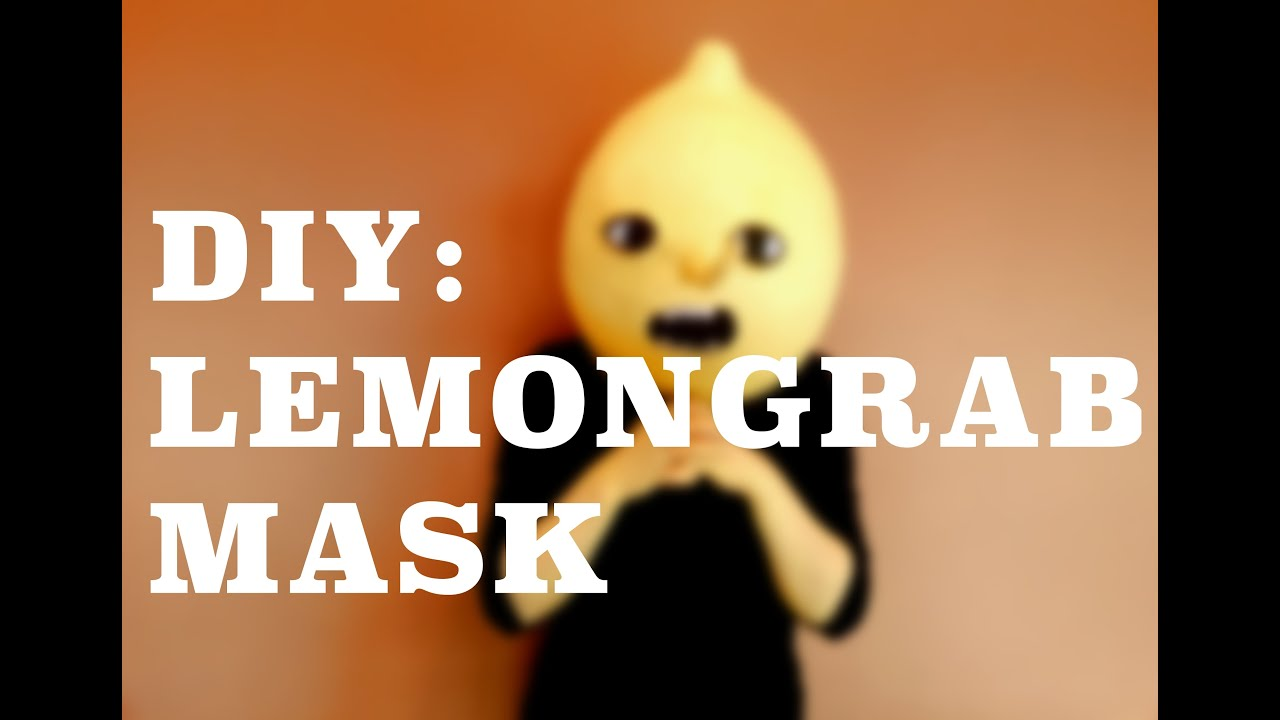 Diy Lemongrab Mask Youtube