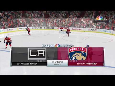 NHL 18 beta online versus Los Angeles Kings vs Florida Panthers