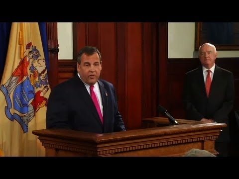 Gov. Christie Press Conference Nominating John Degnan as Port Authority Chairman