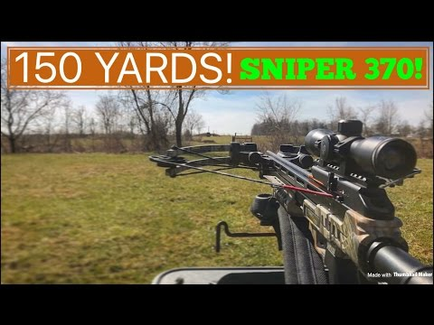 LONGEST SHOT WITH A CENTERPOINT SNIPER 370 Crossbow! (MUST  WATCH!)