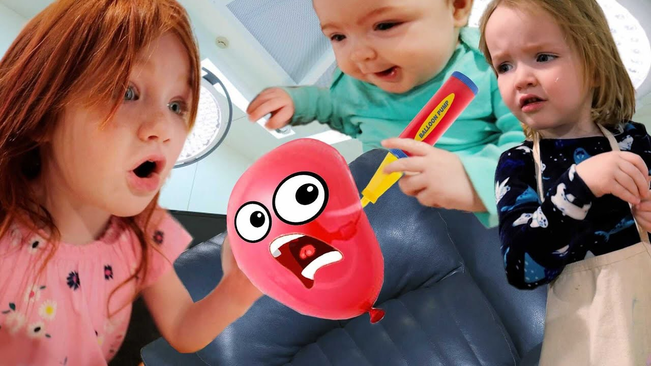 c r a z y BALLOON STORE!!  Adley is THE BOSS!  Granny Mom & Niko Bear play pretend new shopping game