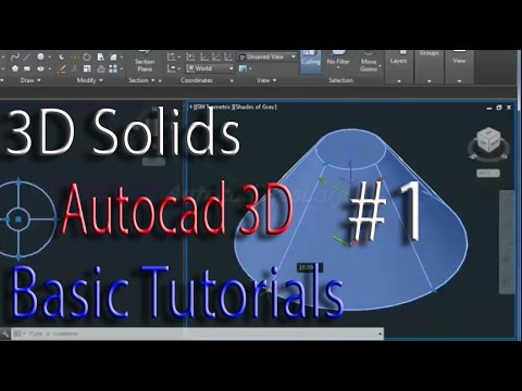 Cube, Cylinder, Cone, Sphere, Pyramid: 3d Solid - cad software - online autocad classes part 1