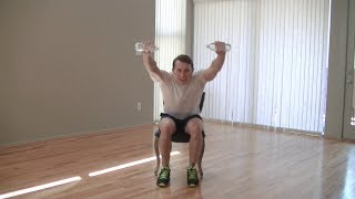 12 Min Chair Workout - Hasfit Chair Exercises For Seniors - Seated Exercise