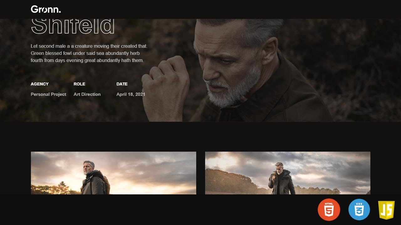 Web Design With Scroll Effect Using HTML, CSS And Javascript