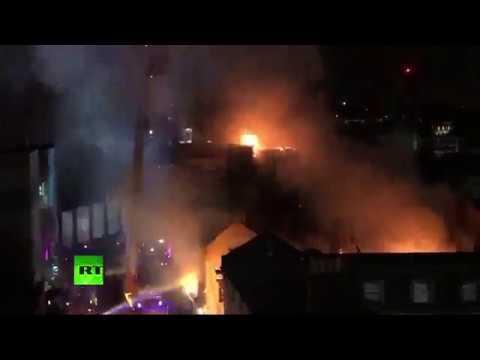 RAW: Blaze engulfs London's Camden Market (STREAMED LIVE)