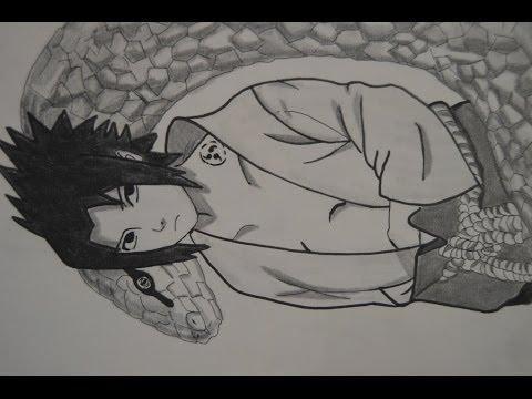 Dibujando a Sasuke Uchiha Shippuden - YouTube