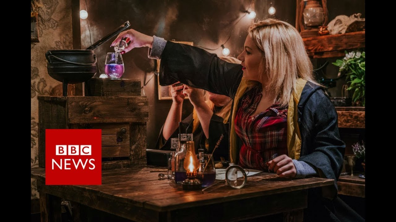 Harry Potter-inspired bar: Why millennials are magically mixing their drinks - BBC News