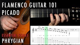 Flamenco Guitar 101 - 09 - Picado: The E Phrygian Scale