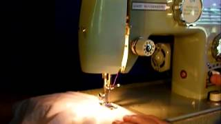 Good Housekeeper sewing machine demonstration