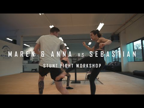 Stunt Fight Workshop MAREN & ANNA vs SEBASTIAN: Menage a trio