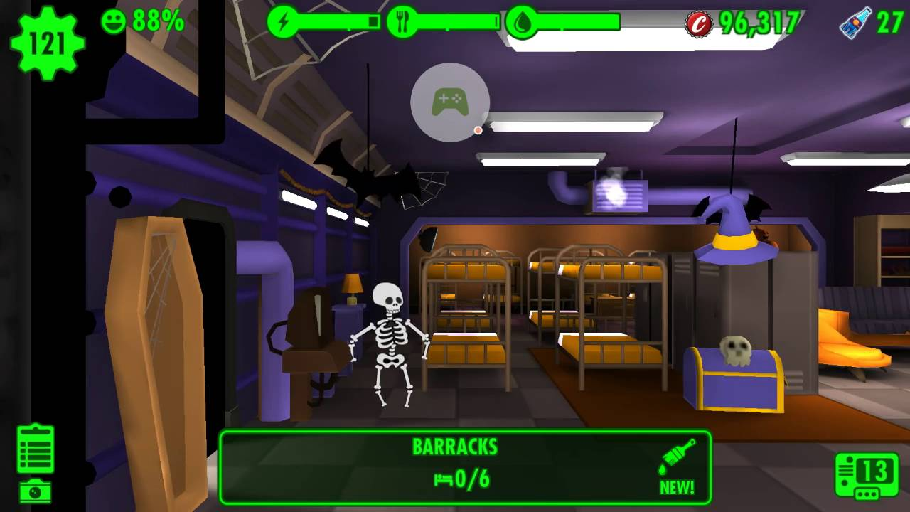 fallout shelter halloween theme new