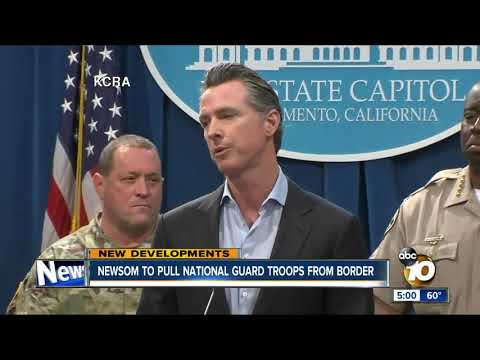 Gov. Newsom to withdraw National Guard troops from US-Mexico border in California Mp3