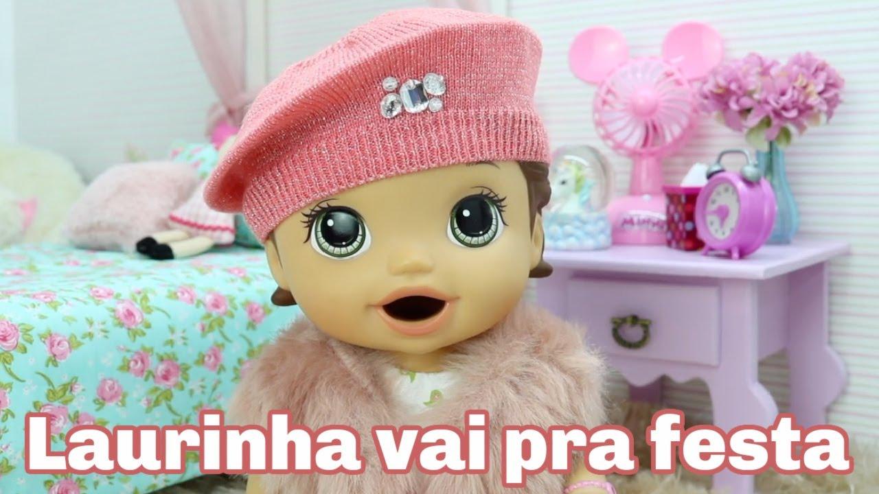 BABY ALIVE LAURINHA VAI PRA FESTA NA CASA DA AMIGA