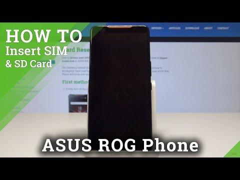 How To Insert SIM In ASUS ROG Phone - Install Nano SIM