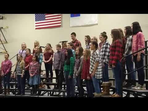 Billings Christian school.7th-8th choir.