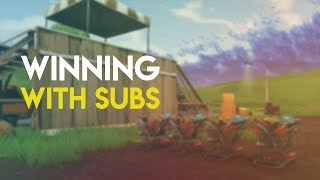 WINNING WITH SUBS (Fortnite: Battle Royale PS4 Gameplay)