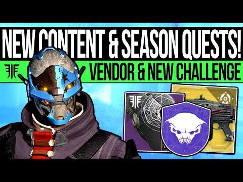 Destiny 2 | HIDDEN CONTENT & SEASON QUESTS! New Armor Set, Challenge Mode, Nine Vendor & DLC Quest! thumbnail