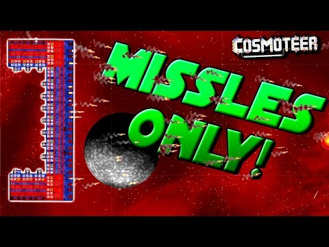 MISSILES ONLY vs. HARDEST SHIP! - Cosmoteer Gameplay Ep14