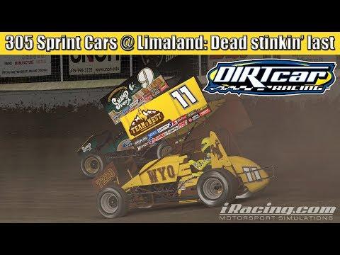 iRacing 305 Sprint Cars at Limaland: Dead stinkin' last