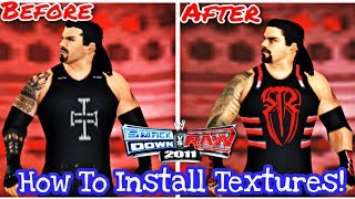 How to install/Change textures in SVR11 PSP | BK WWE