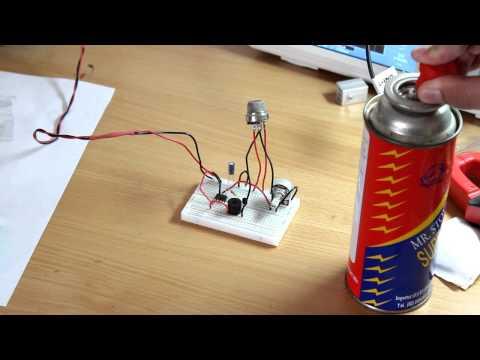 LPG gas leak detector alarm By MQ-6