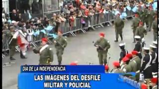 El desfile militar y policial del 9 de Julio en Bell Ville