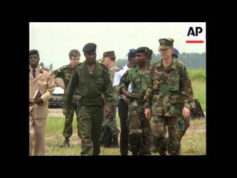 CONGO: BELGIAN, FRENCH & US TROOPS ESTABLISH BASES IN BRAZZAVILLE