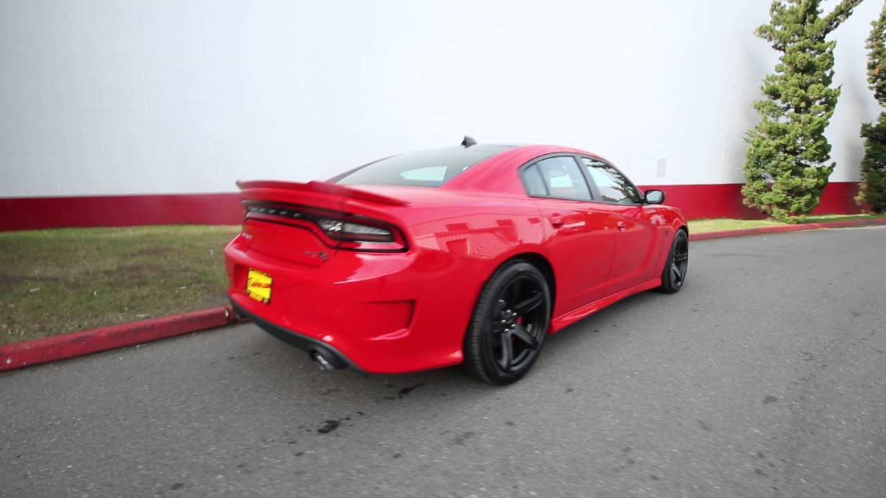 2017 Dodge Charger Srt Hellcat Toreador Red Hh509828 Redmond Seattle