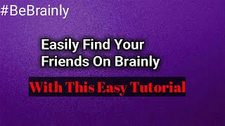 How to search for a user on Brainly?