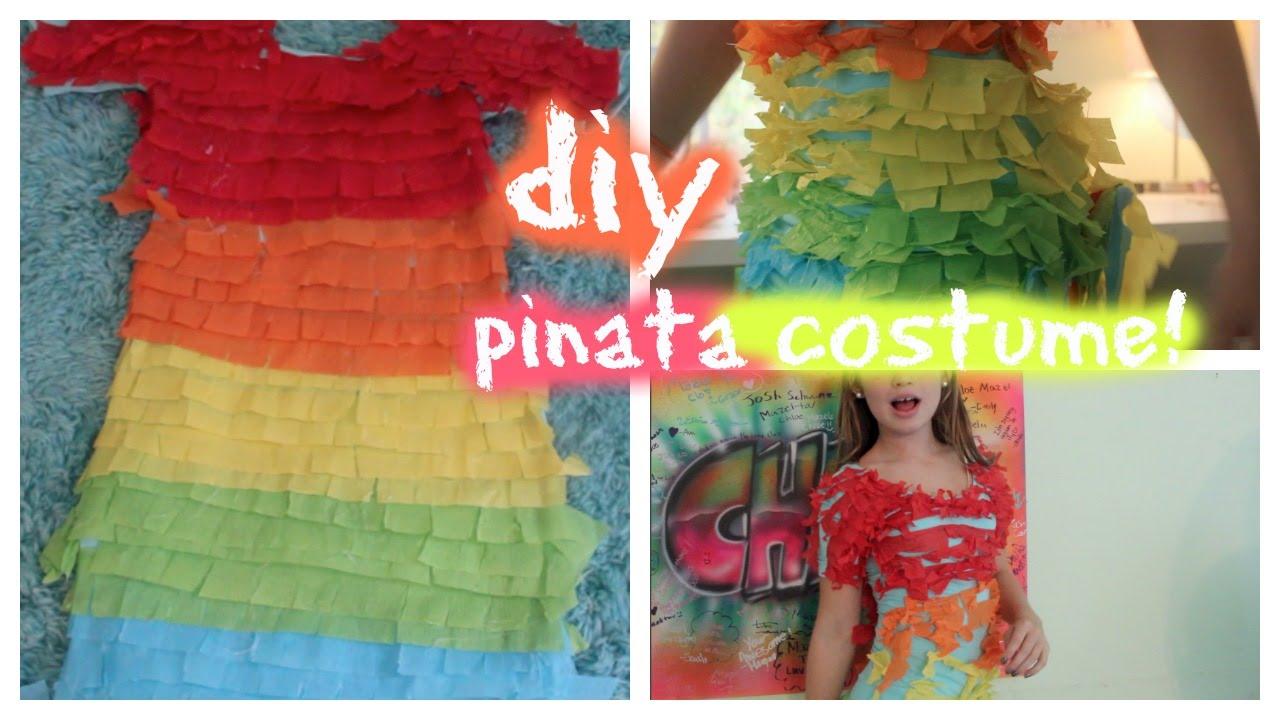 costumized with chloe ♡ diy pinata costume! - youtube