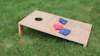 Easy How To Make A Simple Corn Hole / Corn Toss Game By Jon Peters