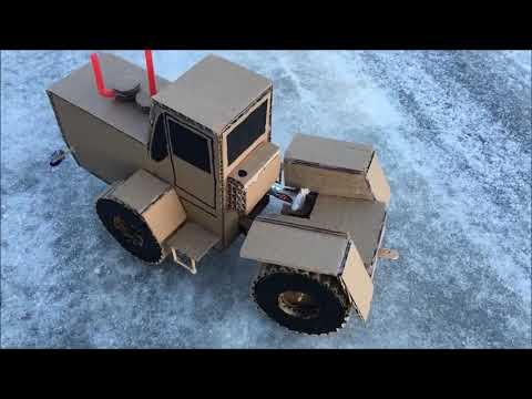 Как сделать трактор Т-150К из картона в домашних условиях.