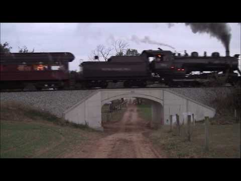Norfolk and Western Steam, You At The Throttle Event, 611, and 475 Trackside Action.из YouTube · Длительность: 9 мин46 с