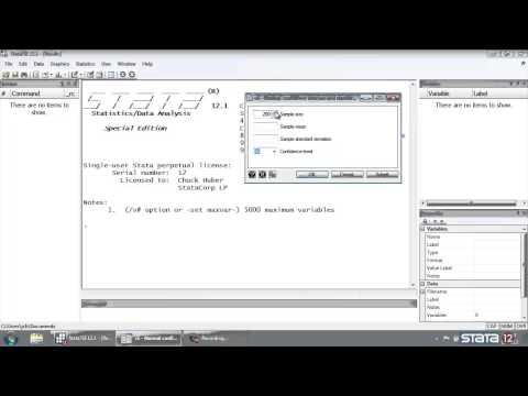 Stata® tutorial: Confidence interval calculator for normal data
