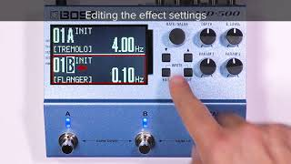 Tips for MD-500 (3): Using two effects simultaneously ~ A/B SIMUL