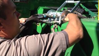 s670 combine 640fd draper head set up