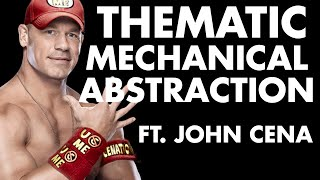Thematic Mechanical Abstraction in a card game about John Cena