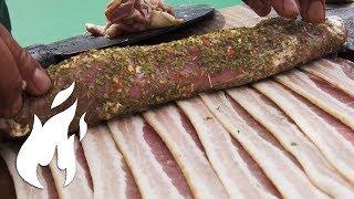 BBQ Filet im XXL Bacon Teppich gesmoked 🔥🔥🔥