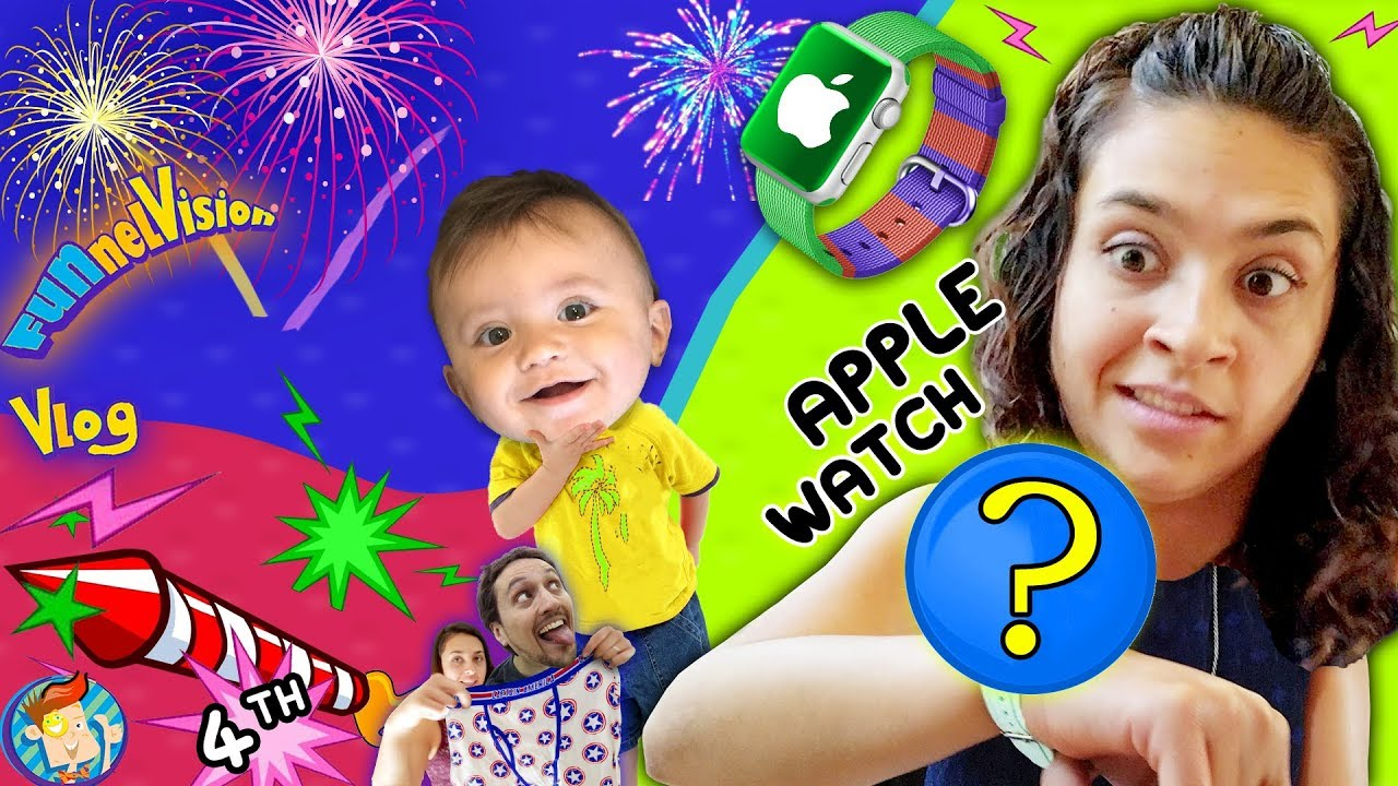 BEST APPLE WATCH EVER!  Shawn's 1st 4th of July Fireworks  Mom's Birthday Vlog
