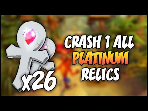ALL PLATINUM RELICS - Crash Bandicoot 1: N. Sane Trilogy (HD)