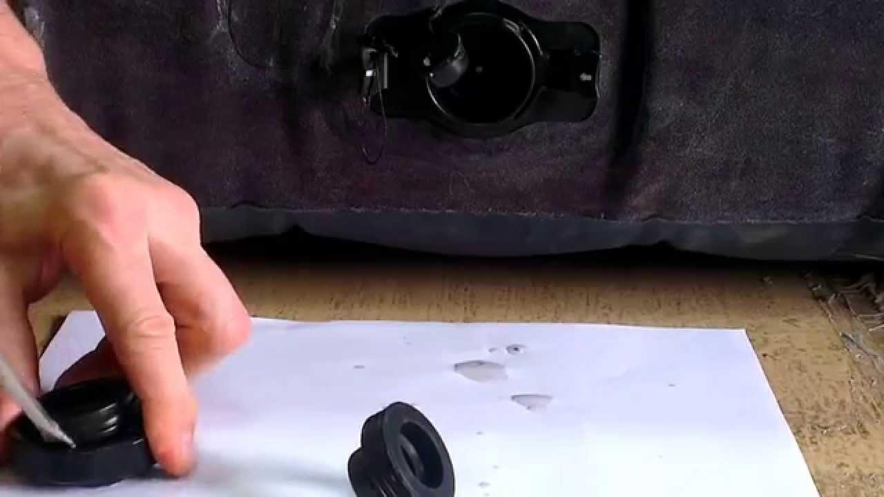 Как надуть матрас INTEX автомобильным насосом - YouTube