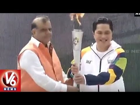 Asian Games 2018 Torch Relay Begins Its Journey From New Delhi | V6 News