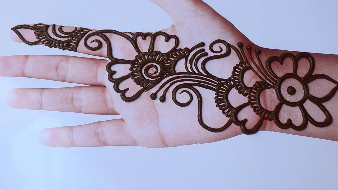 short arabic mehndi design