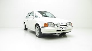 An Astonishing Ford Escort RS Turbo Series 2 with Just 21,801 Miles. £13,995