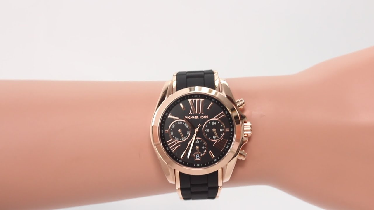 47cd7b0ae Hands on with the Michael Kors Women's Bradshaw Black Silicone Chronograph  Watch (MK6580)
