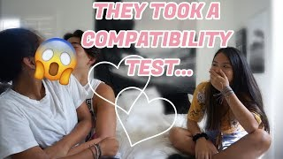 we all took compatibility tests... | Vanessa Nagoya