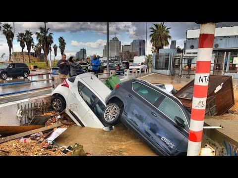 Massive Floods In Tel Aviv Israel, Following Heavy Rains